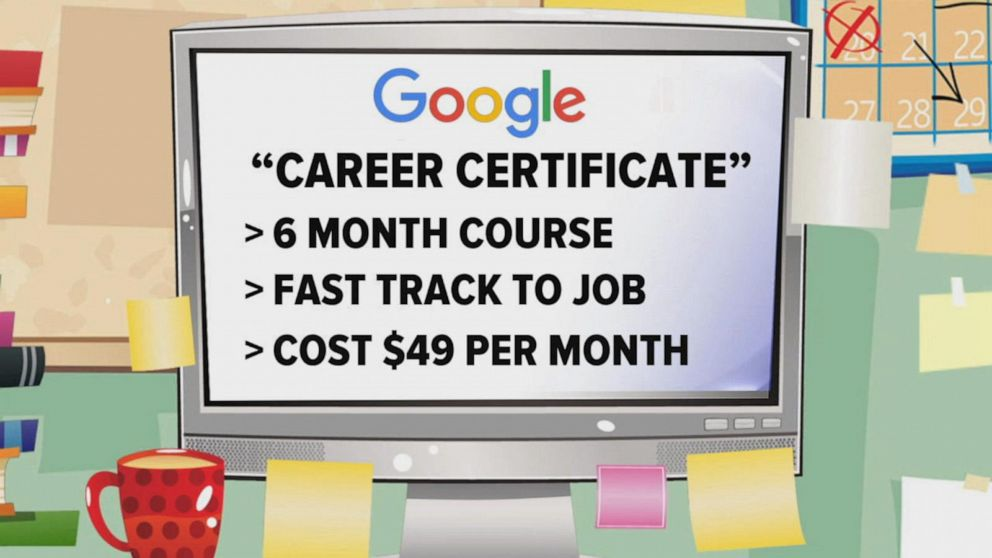 Google helps people without college degrees get jobs