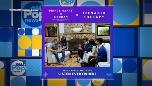 Video Meghan Markle takes part in Teenager Therapy podcast for World Mental Health Day