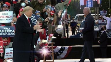 VIDEO: Trump, Biden campaign in swing states as early voting hits record high