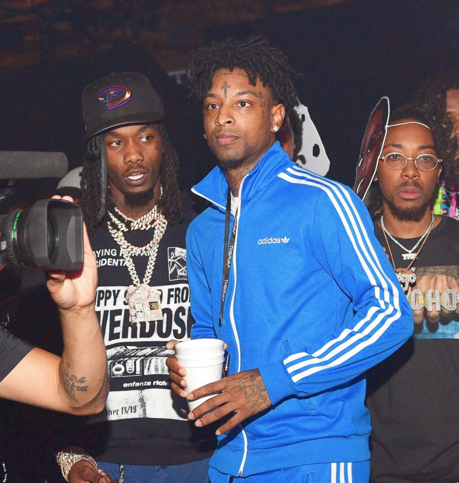 PHOTO: Offset and 21 Savage attend an event on Oct. 12, 2018, in Los Angeles.