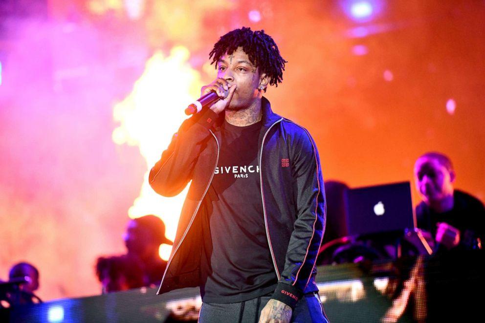 PHOTO: Rapper 21 Savage performs onstage, Dec. 14, 2018, in Los Angeles.