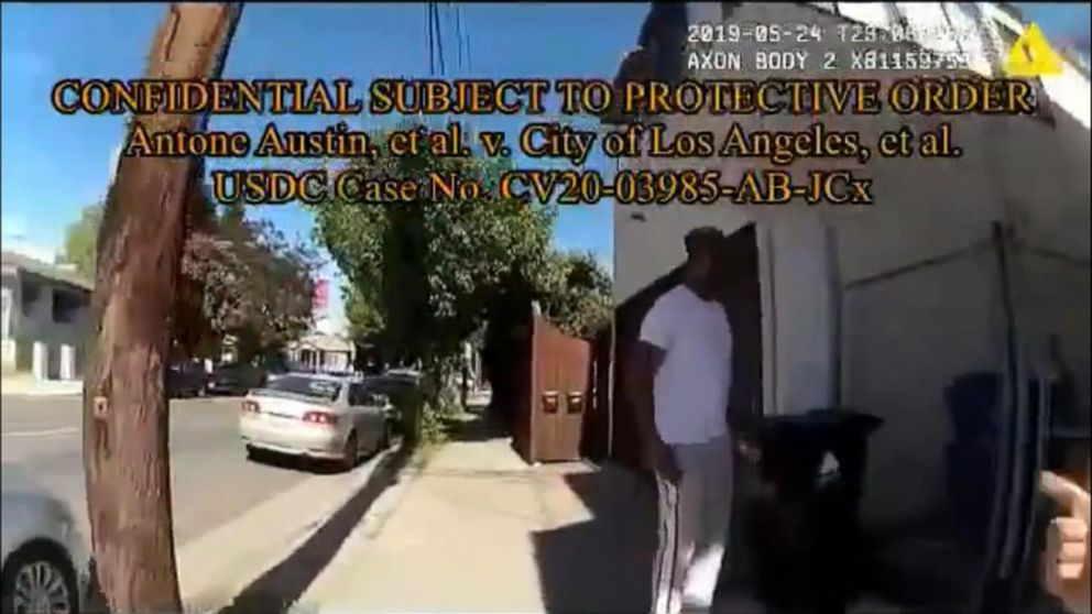 Body camera footage released of Black man arrested while taking out trash