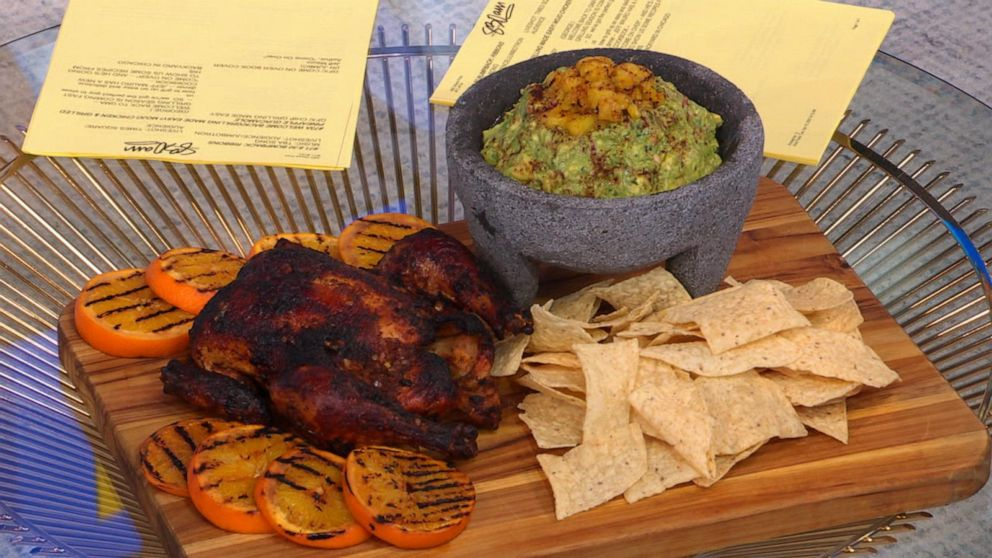 Make mojo chicken and grilled pineapple guacamole for your next cookout