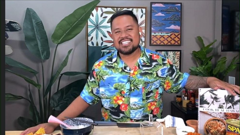 Sheldon Simeon, author of 'Cook Real Hawaii', showcases his mouth-watering recipes