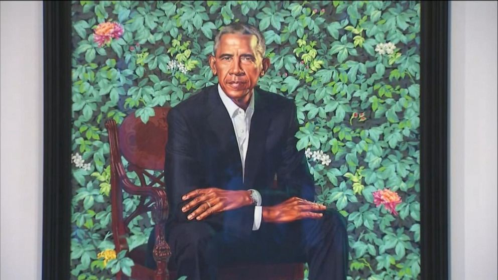 The Obamas' official portraits on nationwide tour