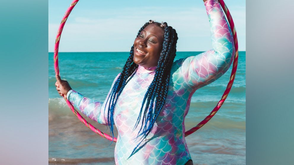 This hula-hooper is the epitome of Black Girl Magic