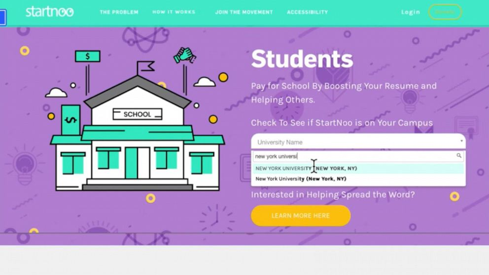 Startup creates a unique way for people to pay off student loans