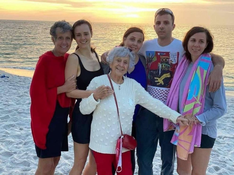PHOTO: Fran with daughter Colleen and grandchildren Allison, Kerry, Caitlin and Nicholas.