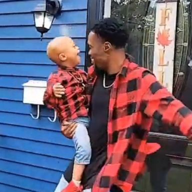 [VIDEO: Father son duo dance to celebrate son beating cancer]