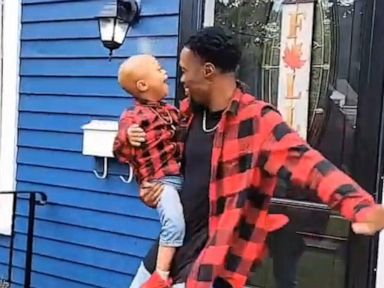 WATCH:  Father son duo dance to celebrate son beating cancer