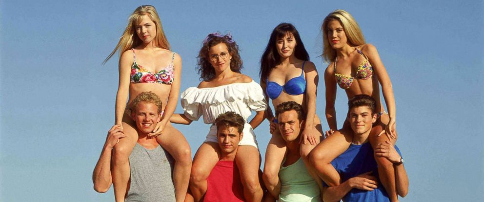 "PHOTO: A cast photo from the show ""90210,"" circ. 1990s."