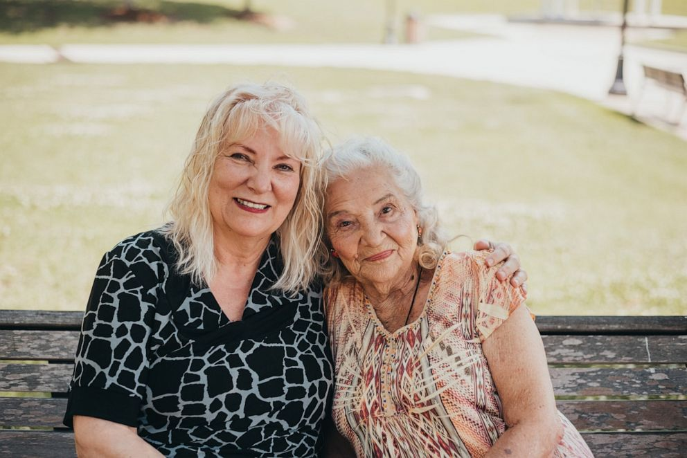 PHOTO: Lynne Wray (left) and Elizabeth Pullen (right), who are mother and daughter, met on May 6, 2019 for the very first time.