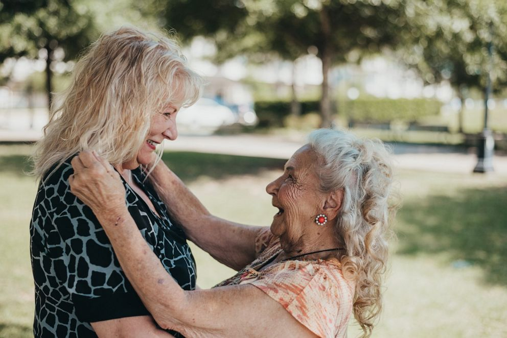 PHOTO: Lynne Wray (left) and Elizabeth Pullen (right) met on May 6, 2019 for the very first time.