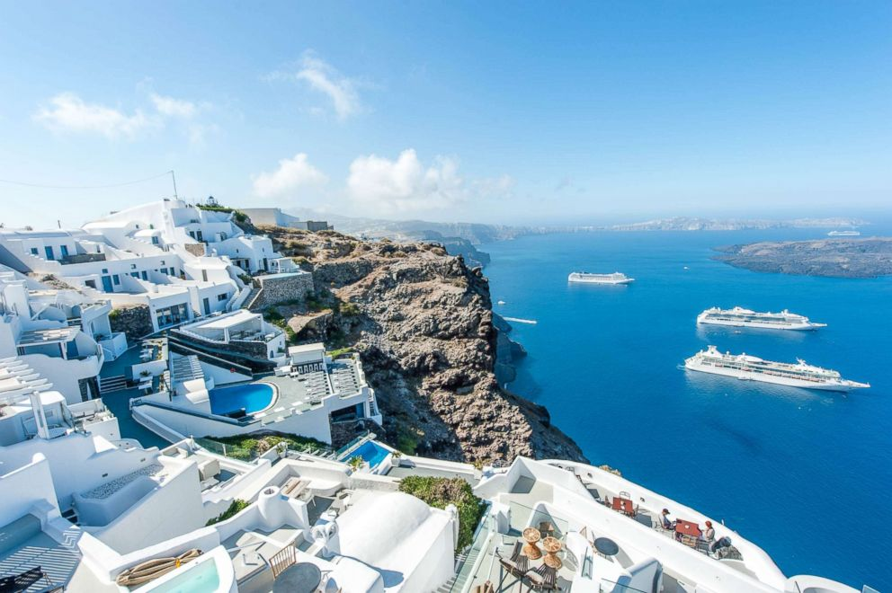 PHOTO: View from Aeolos Studios & Suites in Santorini