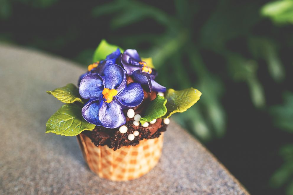 PHOTO: The Mara African Violet Cupcake.