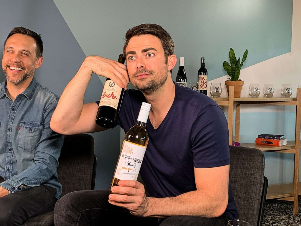 PHOTO: Actor Jonathan Bennett with the Nocking Point bottles inspired by Mean Girls.
