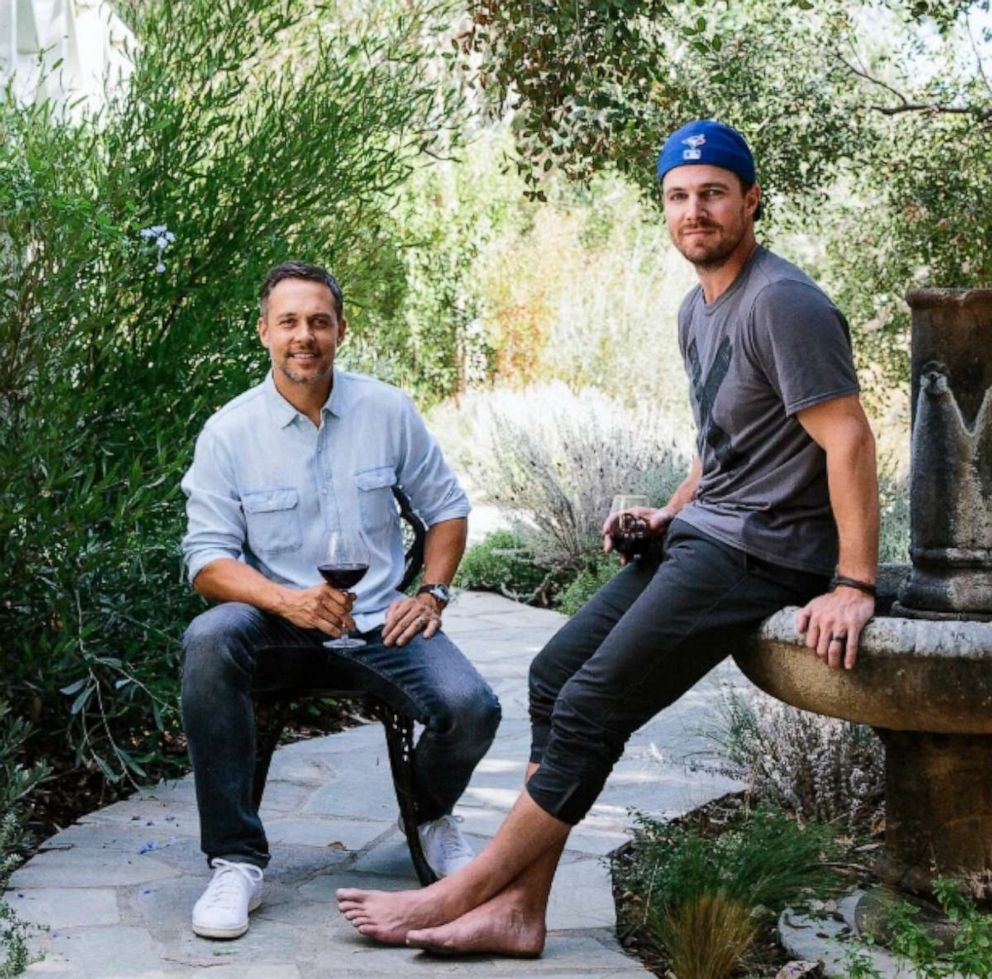 PHOTO: Nocking Point Wines co-founders Andrew Harding and Stephen Amell.