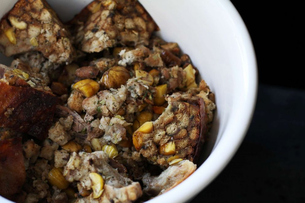 PHOTO: Chestnut stuffing from Andrew Zimmern.