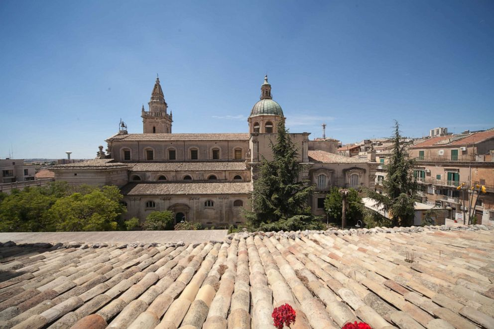 PHOTO: View from Antica Badia Relais Hotel in Ragusa.