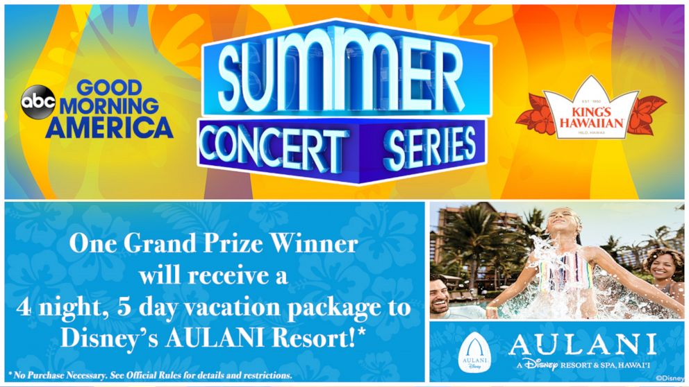 Good Morning America's '2019 Summer Concert Series' Sweepstakes