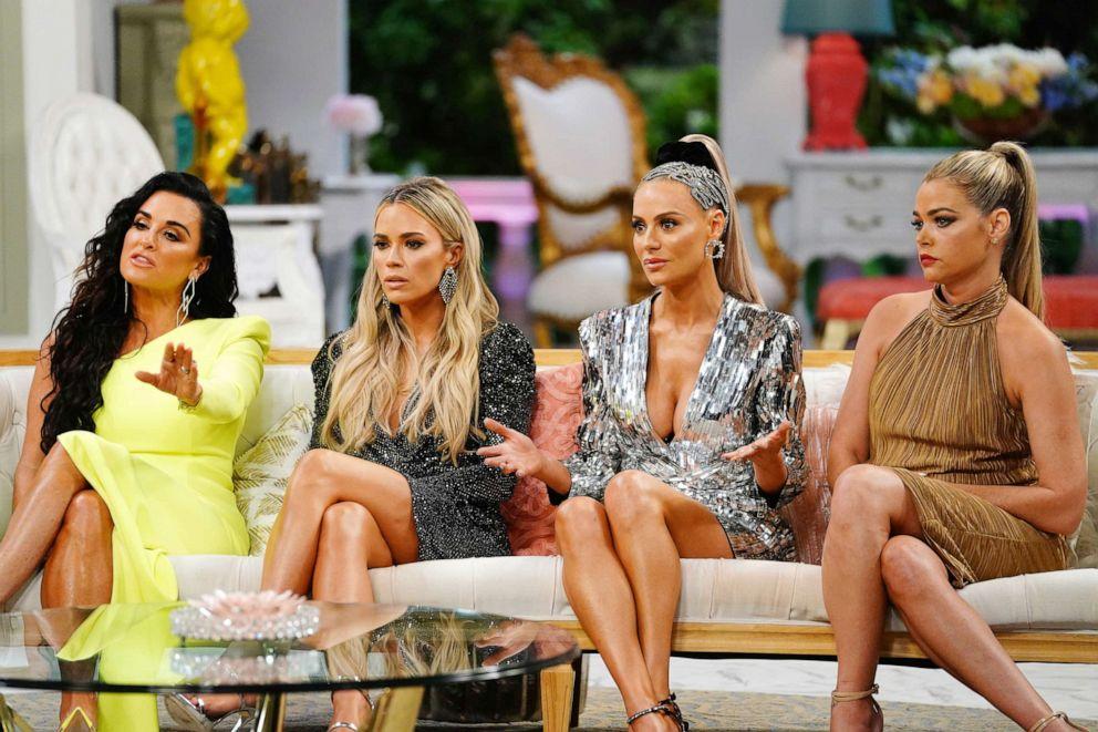 PHOTO: Kyle Richards, Teddi Mellencamp Arroyave, Dorit Kemsley, Denise Richards during The Real Housewives of Beverly Hills, Reunion.