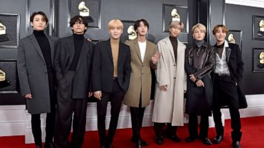 Grammys 2021 Bts Loses Out On Award Still Makes History With Dynamite Performance Abc News