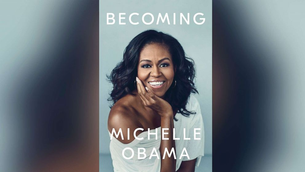 "Book cover for Michelle Obama's new memoir, ""Becoming."""