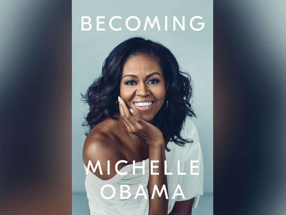 PHOTO: Book cover for Michelle Obamas new memoir, Becoming.