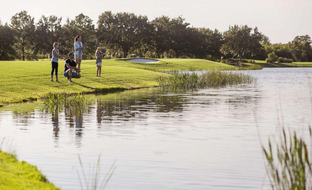 Fly fishing at Grande Lakes Orlando.