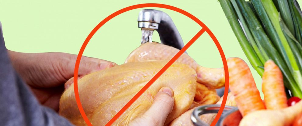PHOTO: CDC says NOT to wash raw chicken