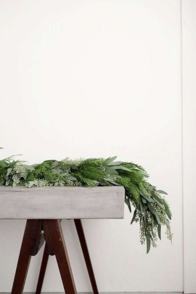 PHOTO: A Christmas garland.