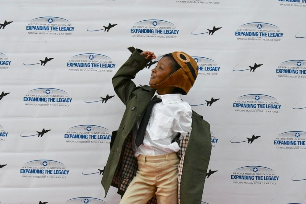 PHOTO: Noa Lewis giving her best of Bessie Coleman.