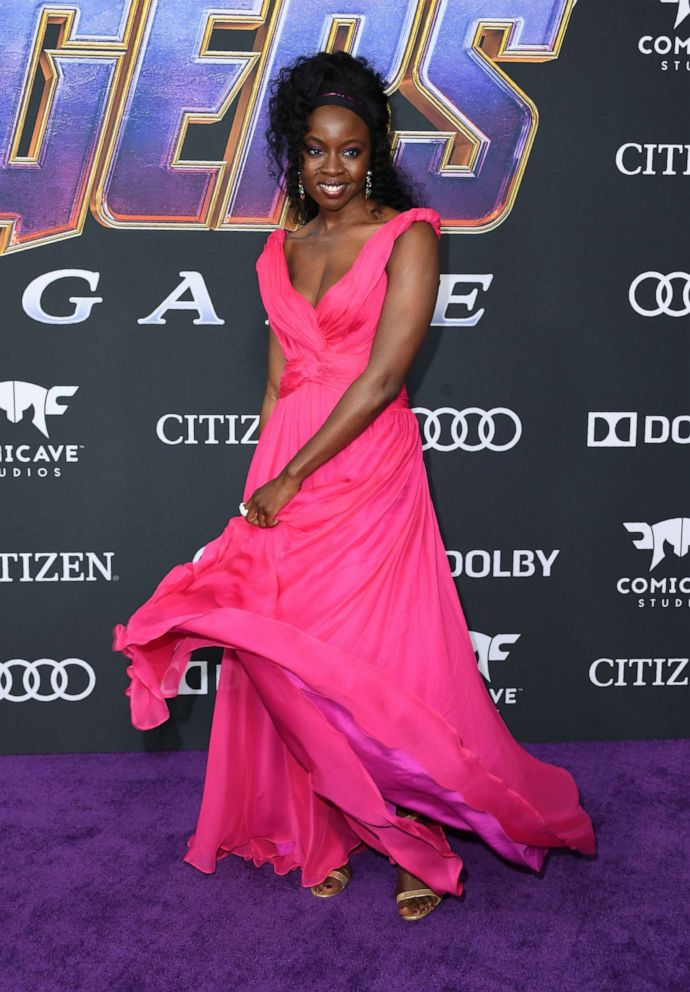 PHOTO: Danai Gurira arrives for the World premiere of Marvel Studios Avengers: Endgame at the Los Angeles Convention Center on April 22, 2019 in Los Angeles.