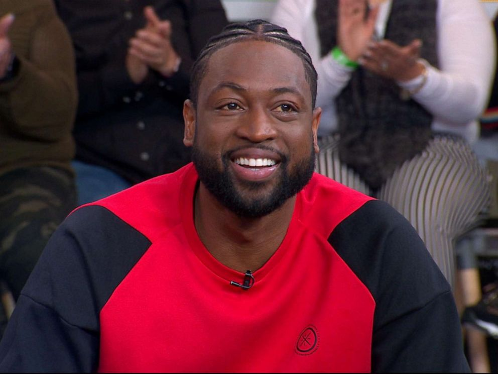 PHOTO: Dwyane Wade appears on Good Morning America, April 12, 2019.