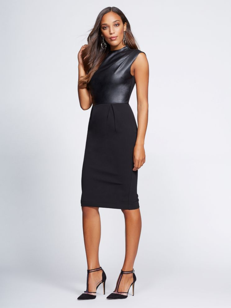 PHOTO: This faux leather sheath dress is part of Gabrielle Unions NY & Co. collection.