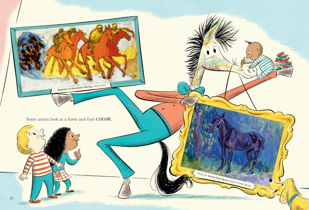 "PHOTO: An image from inside Dr. Seuss' new book ""Horse Museum."""