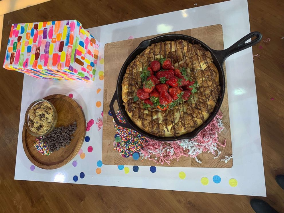 PHOTO: Sharon Zelen created a chocolate chunk skillet cheesecake that won GMA sweet treat showdown.