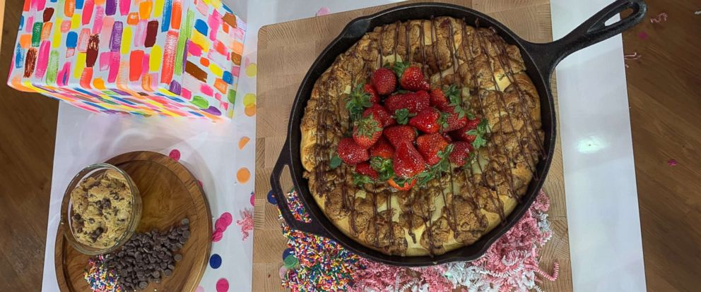 "PHOTO: Sharon Zelen created a chocolate chunk skillet cheesecake that won ""GMA"" sweet treat showdown."