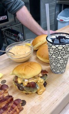 PHOTO: The brand new Dracarys burger and Dragonglass shake inspired by Game of Thrones at the Shake Shack innovation kitchen in New York City.