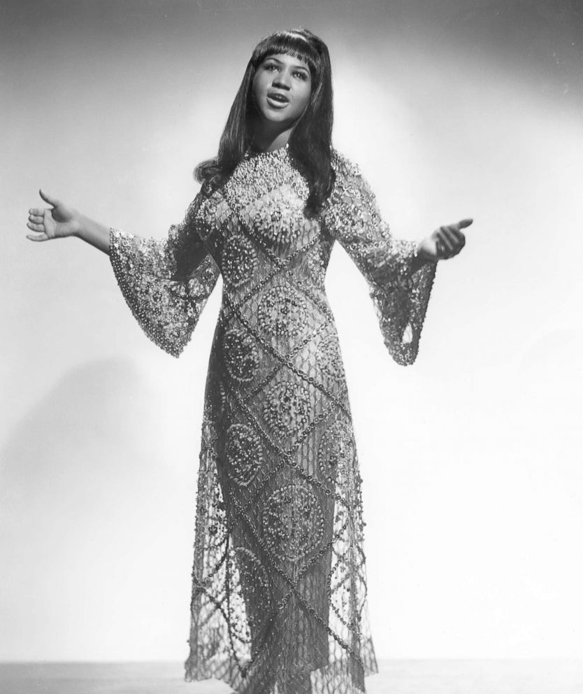 Aretha Franklin poses for a portrait in 1965.