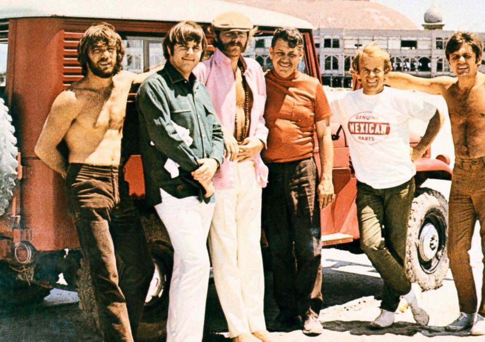 PHOTO: Murray Wilson and the Beach Boys, from left, Dennis Wilson, Carl Wilson, Mike Love, Al Jardine and Bruce Johnston.