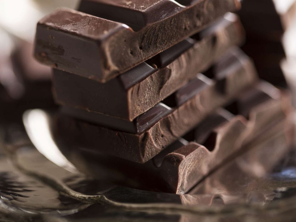 PHOTO: Pieces of dark chocolate are stacked in an undated stock photo.