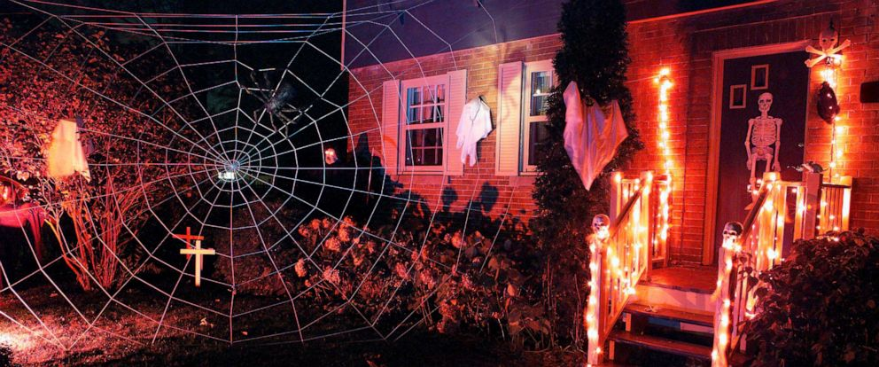 PHOTO: A home is decorated for Halloween.