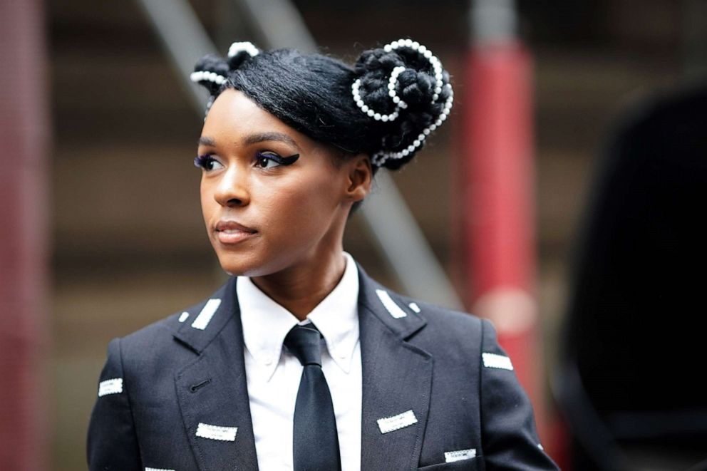PHOTO: Janelle Monae, outside Thom Browne, during Paris Fashion Week Womenswear Fall/Winter 2019/2020, on March 03, 2019 in Paris, France.