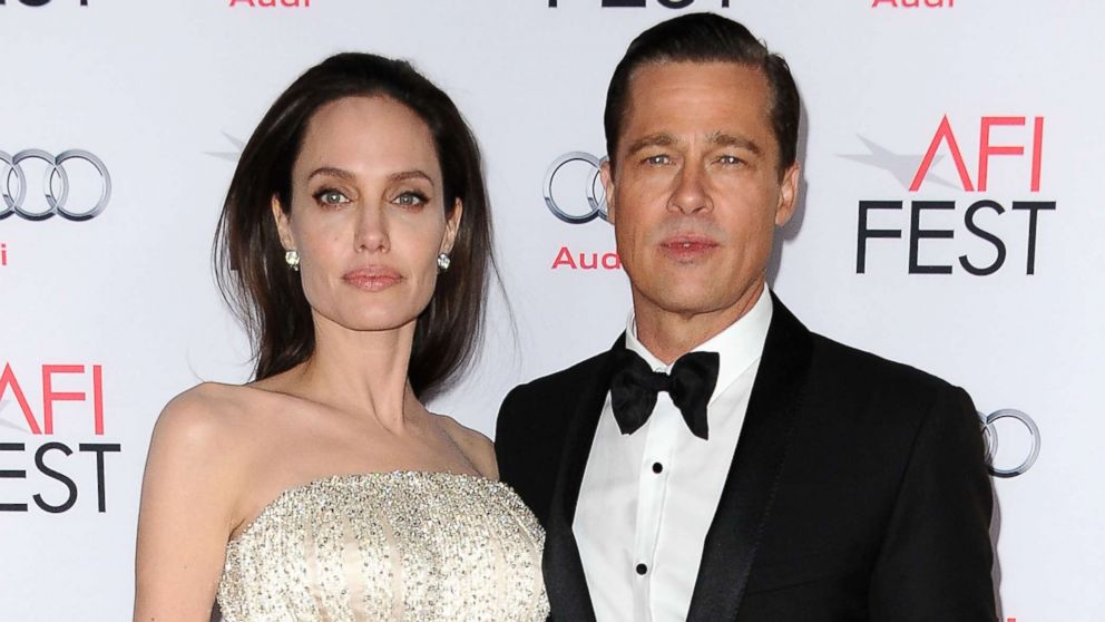 """Angelina Jolie and Brad Pitt attend the premiere of """"By the Sea"""" at the 2015 AFI Fest at TCL Chinese 6 Theatres, Nov. 5, 2015, in Hollywood, California."""