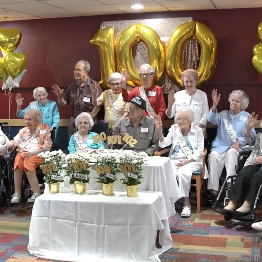 Retirement community celebrates 18 residents who turn 100 or