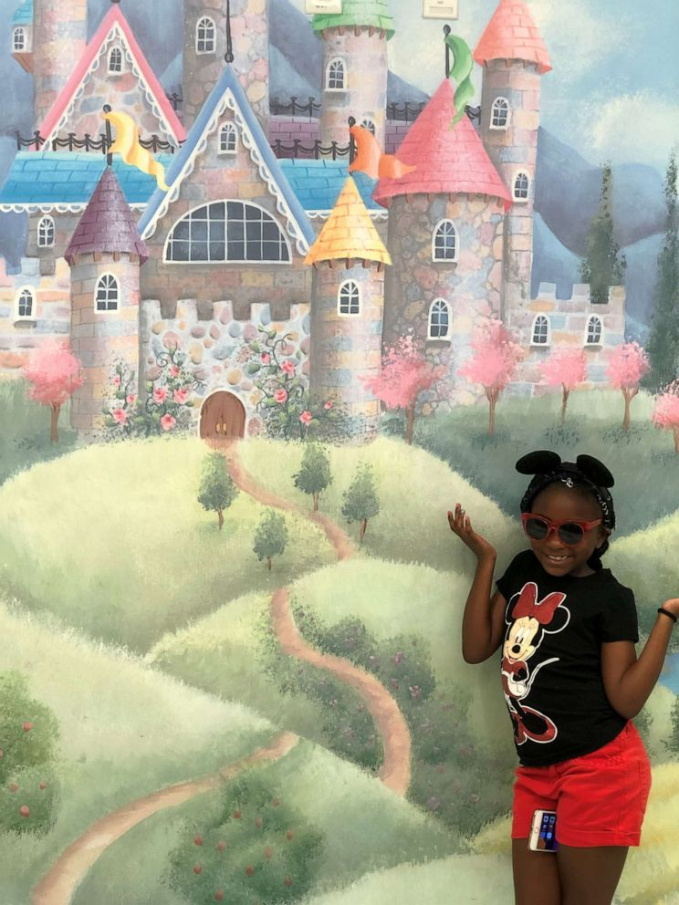 PHOTO: Jaidyn Faith Avant poses during a mother-daughter trip to Disney World.