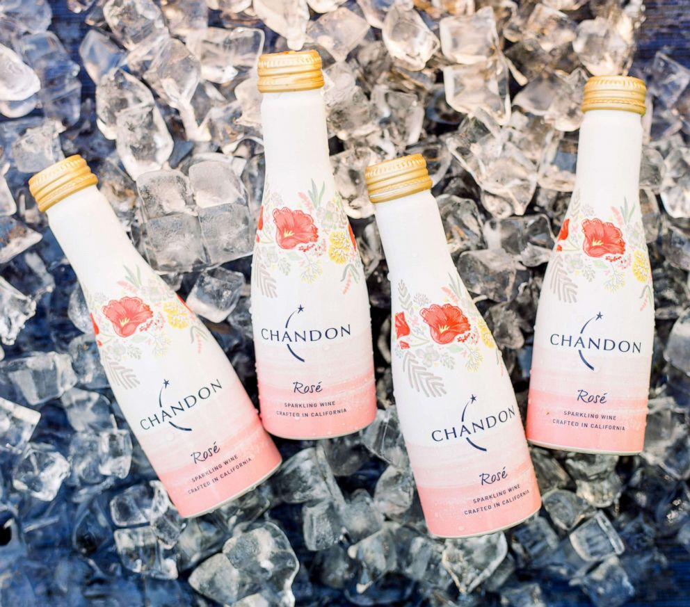 PHOTO: The single serving Chandon aluminum rosé mini bottles are perfect to pack and carry outside for a picnic.