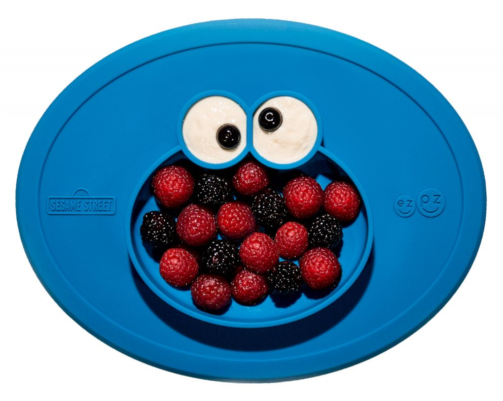 PHOTO: A Cookie Monster placemat design by ezpz for the Sesame Street collaboration.