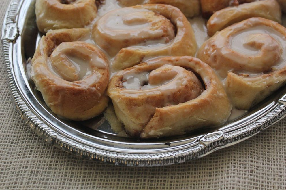 PHOTO: Gooey cinnamon buns from Emeril Lagasse are a perfect dish for Mothers Day.